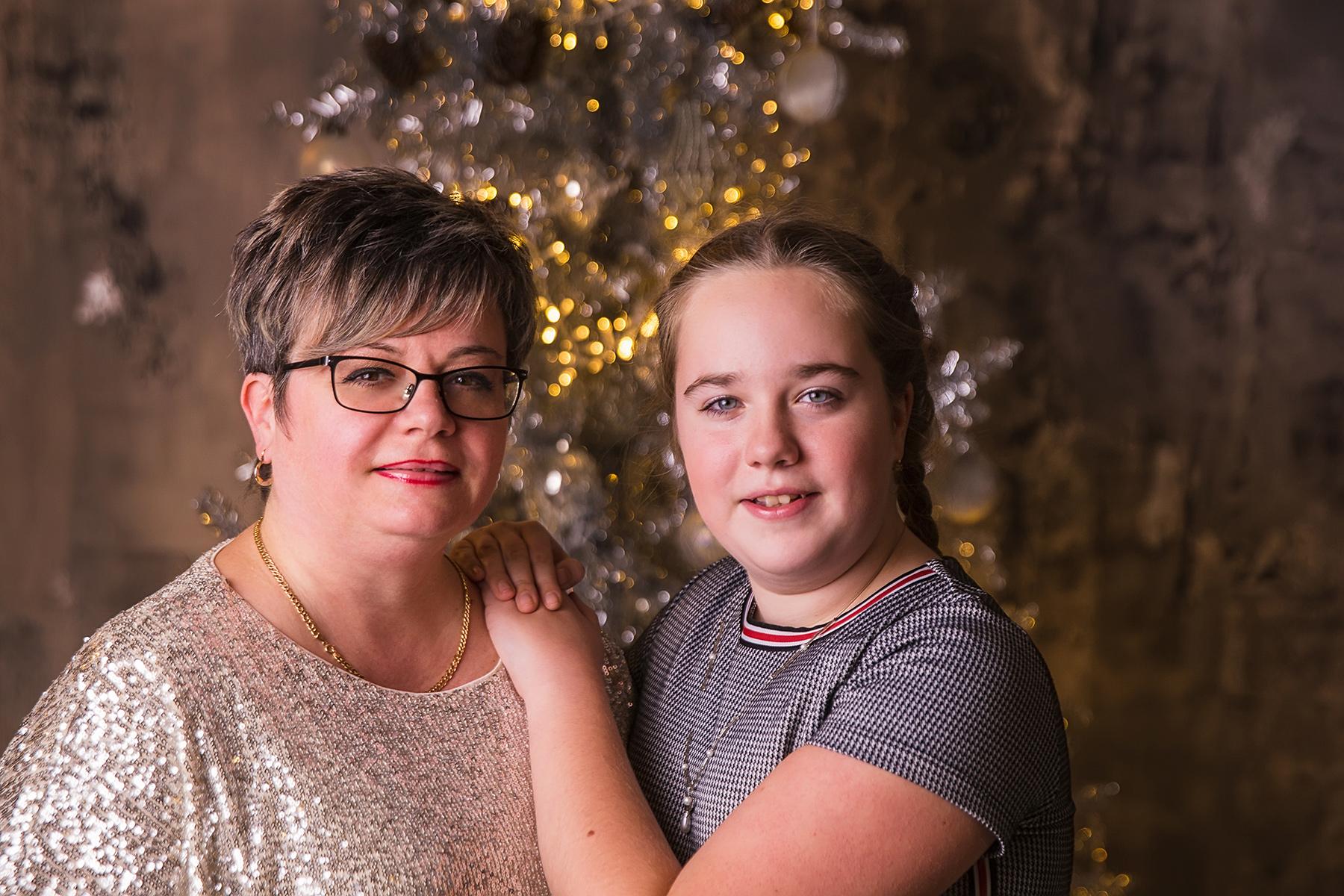 Karácsonyi családi fotózás stúdióban 2