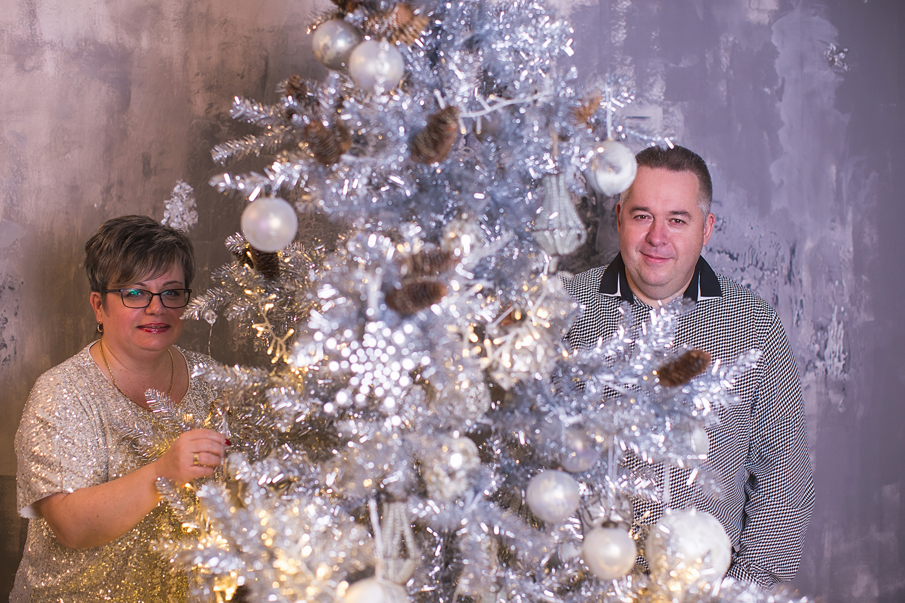 Karácsonyi családi fotózás stúdióban 2.